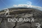 Lava fields on the bike course at the Ironman World…