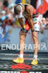 Craig Alexander at the finish line of the Ironman World…