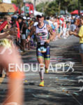 Frederick Van Lierde nearing the finish of the Ironman World…