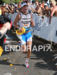 Andreas Raelert in the finishing chute of the Ironman World…