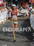 Faris Al-Sultan in the finishing chute of the Ironman World…