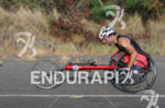 Challenged athlete Andre Kajlich on the run at the Ironman…