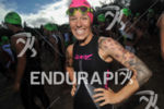 Heather Jackson priot to the start of the swim at…