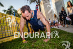 Warm up exercise at the Ironman 70.3 Miami in Miami,…