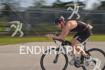 Riding fast at the Ironman 70.3 Miami in Miami, USA…