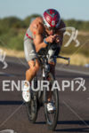 TJ Tollakson riding strong on the bike at the 2012…