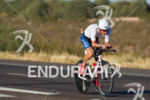 Mathias Hecht on bike at the 2012 Ironman Arizona on…