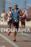 Mathew Russlle late in the run at the 2012 Ironman…