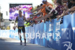 Tyler Butterfield coming through the finish line at the 2012…