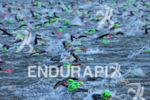 Mass swim start at the 2012 Ironman Arizona on November…