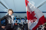 Canadian age grouper prior to race start at the Ironman…