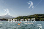 Pro swimming at the Ironman 70.3 Pucon in Pucon, Chile…