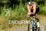 Australia's Luke McKenzie riding at the Ironman 70.3 Pucon in…