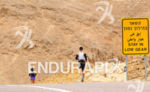 Triathlete running in the Arava Valley