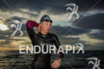 Triathlete going out of the water during 2575 Triathlon Miami…