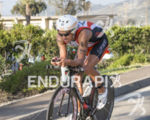 Andi Boecherer, DEU, on the bike at the 2013 Ironman…