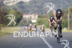 Andy Potts leading the pack during the bike leg at…