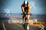 Mathew Pellow on bike at the  Ironman 70.3 St. George…