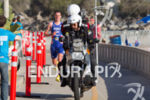 Alistair Brownlee (GBR) is lead by the TV moto at…