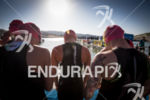 Heather Jackson and the Elite women await the swim start…