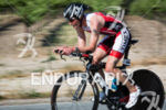 Nicholas Thompson on the bike at the Wildflower Triathlon on…