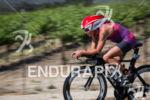 Kat Baker leads the Elite Women on the bike at…