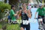 Lisa Huetthaler in the lead at the Thomas Cook Ironman…