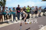 Kristin Moeller on the run portion of the 2013 Ironman…