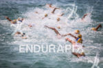 Elite men on second lap of the swim at the…