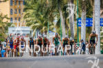 Elite men's chase group is spread across the road at…