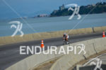 Amazing view of a age grouper cycling fast at Florianopolis'…