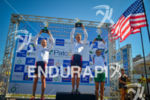 Junior female podium at the 2013 Vila Velha ITU Triathlon…
