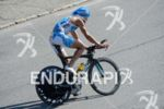 Andreas Raelert on the bike at the Ironman Austria in…