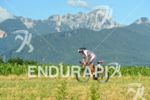 Franz Hoefer on the bike at the Ironman Austria in…