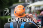 Gwen Jorgensen (USA) adjusts swim cap prior to the swim…