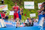 Alois Knable (AUS) finishes at the 2013 World Triathlon Series…