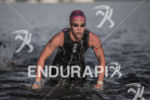 Anna Cleaver exiting swim at the 2013 Ironman Muncie 70.3…