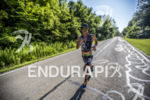 Callum Millward running at the 2013 Ironman Muncie 70.3 on…