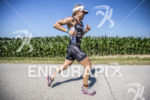 Kate Bevilaqua running at the 2013 Ironman Muncie 70.3 on…