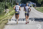 Nina Kraft and Ashley Clifford running together at the 2013…