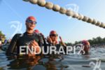 Age group athletes waiting for the start at the DATEV…