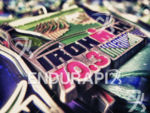 Finisher medals at the 2013 Vineman 70.3 Triathlon in Sonoma…