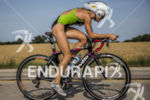 Jenna Parker leading the bike midrace at the 2013 Ironman…