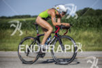 Jenna Parker on her bike at the 2013 Ironman Racine…