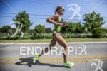 Jenna Parker running at the 2013 Ironman Racine 70.3 on…
