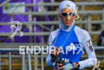 Iran's Mandana Menshadi with her burqa prior to the race…