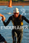 Amanda Stevens exits the water in 5th place overall at…