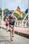Celia Kuch during the run leg of 2013 Challenge Vichy…