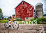 Age group cyclist cruising the heartland at the Ironman Wisconsin…