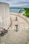 Cyclists leave transition on the circular  Helix….only in Madison at…